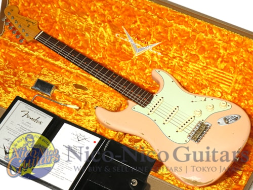 2017 Fender Custom Shop 1960 Stratocaster Relic Aged Shell Pink