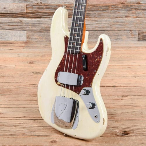 Fender Custom Shop Limited 1960 Jazz Bass Relice w/Roasted Maple Neck Olympic White 2017