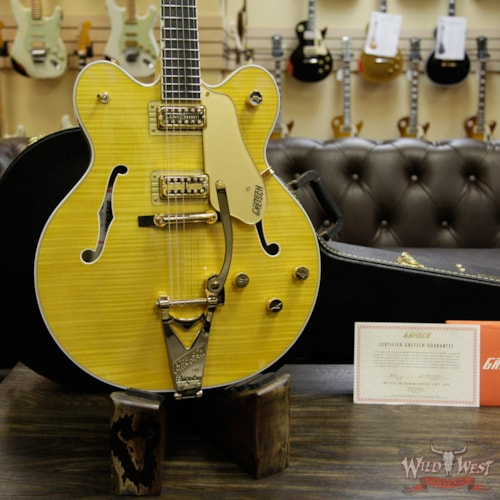 2017 Gretsch G6122TFM Players Edition Country Gentleman with Bigsby Filter Tron Pickups Amber Stain Amber Stain, Brand New