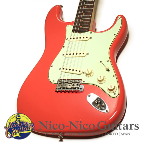 2018 Fender Custom Shop 1962 Stratocaster Journeyman Relic Faded Fiesta Red