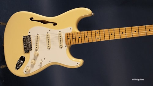 2018 Fender Eric Johnson Stratocaster Thinline White Blonde