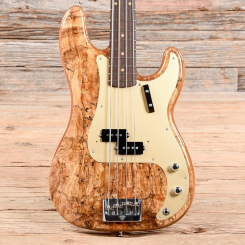 Fender Custom Shop Artisan Precision Bass Spalted Maple Top Natural 2018