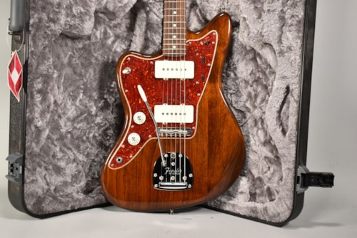 2018 Fender Mod Shop Jazzmaster Walnut Stain Finish Lefty Electric Guitar w/OHSC