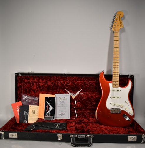 2018 Fender Stratocaster (1968 reissue) Faded Aged Candy Apple Red