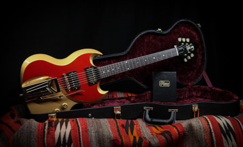 """2018 Gibson Custom Shop SG w/ Raised Contours """"Two-tone Gold/Red"""""""
