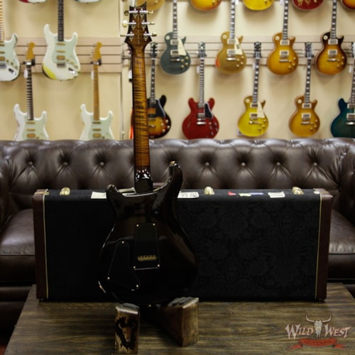 Paul Reed Smith - PRS PRS Wood Library Flame 10 Top Special 22 Semi-Hollow Flame Maple Neck Brazilian Rosewood Board Black Gold Burst Black Gold Burst