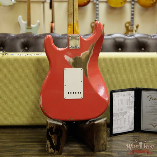 2019 Fender Custom Shop 1957 Stratocaster Heavy Relic Maple Neck Fiesta Red Fiesta Red