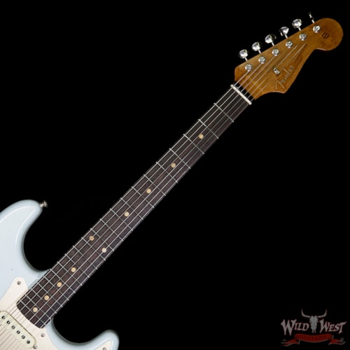 2019 Fender Custom Shop 1960 Roasted Stratocaster Relic AAA Rosewood Faded Sonic Blue