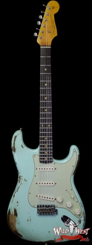 2019 Fender Custom Shop 1963 Stratocaster Heavy Relic AAA Rosewood Round Lam Fingerboard Surf Green Surf Green