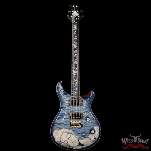 2019 PRS - Paul Reed Smith PRS Private Stock #7823 Guitar of the Gods Custom 24 Brazilian Rosewood Fingerboard with Tree of Life Inlay Faded Royal Blue Smoked Burst Faded Royal Blue Smoked Burst
