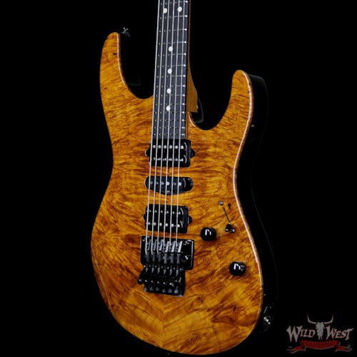 2019 Suhr Modern HSH Floyd Reverse Head Hand Selected Spalted Maple Top Roasted Maple Neck Ebony Board Natural Natural