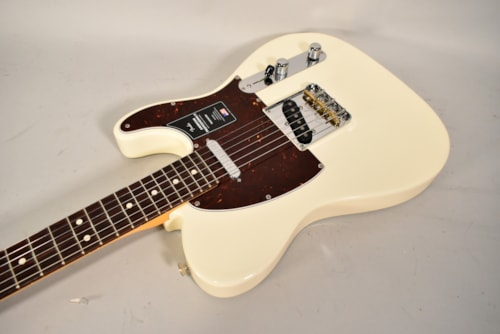 2020 Fender American Professional II Telecaster Olympic White Electric Guitar w/OHSC