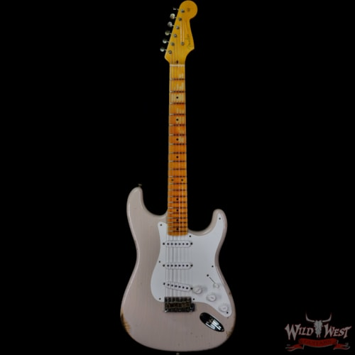 2020 Fender Custom Shop 1955 Stratocaster Hand-wound Pickups Relic Dirty White Blonde