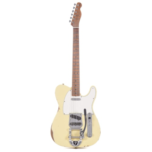 Fender Custom Shop 2020 Limited Edition 1969 Roasted Telecaster Relic Aged Vintage White w/Bigsby
