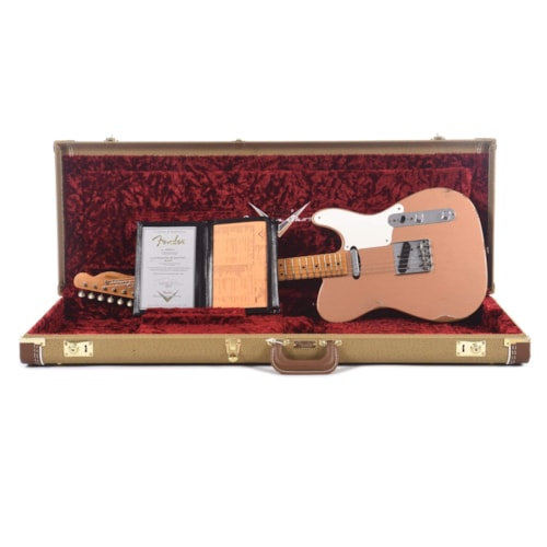 Fender Custom Shop 2020 Limited Edition Roasted Pine Double Esquire Relic Aged Copper