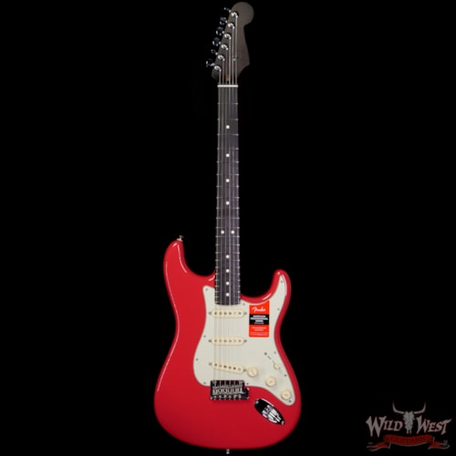 2020 Fender USA American Professional Stratocaster Solid Rosewood Fiesta Red