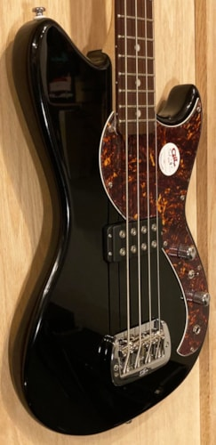 2020 G&L Fallout Short Scale Bass Jet Black