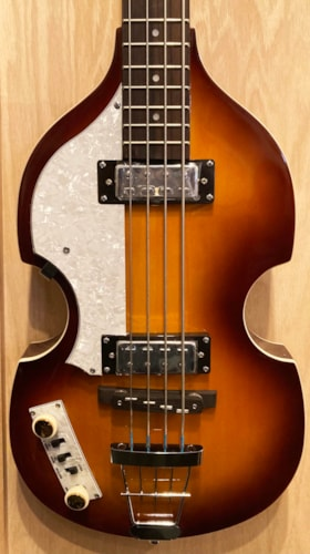 2020 Hofner Violin Bass Ignition Left-Handed Model Sunburst