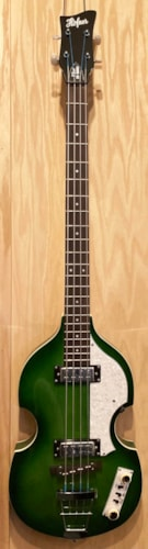 2020 Hofner Violin Bass Ignition  Transparent Green