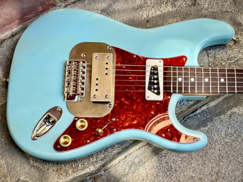 2021 Waterslide Coodercaster S-Style Sonic Blue