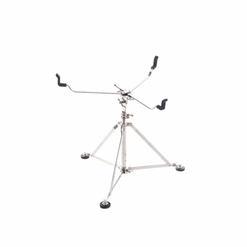 """A&F Drum Co. Large Single Braced Snare Stand Nickel (Holds 18-22"""")"""