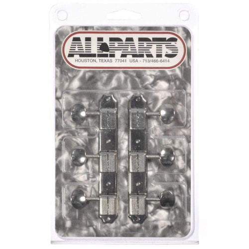 Allparts Deluxe 3x3 Tuners - Nickel Buttons