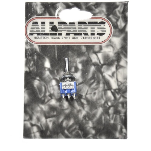 Allparts On Off On Mini DPDT Switch - Chrome