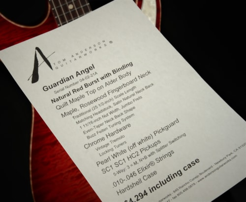 Tom Anderson Guardian Angel - Natural Red Burst