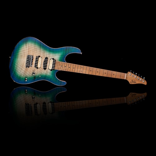 Suhr Limited Edition Modern Satin Flame Roasted Maple FB w/ Gig Bag Island Burst (JS0A5L)