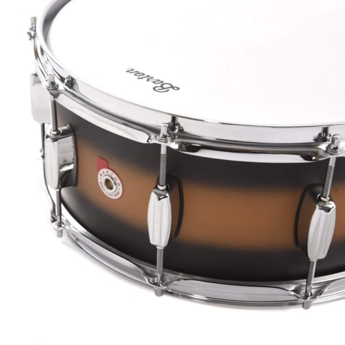 Barton Drum Co. 6x14 Beech Snare Drum Gold Duco