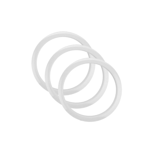 "Bass Drum O's 4"" Bass Drum Head Reinforcement Ring White (3 Pack Bundle)"