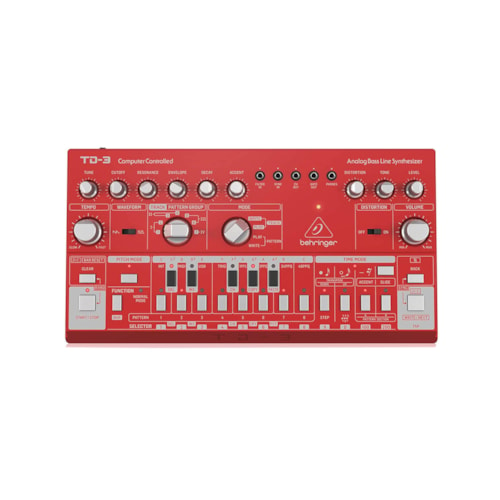 Behringer TD-3-RD Analog Bass Line Synthesizer Red