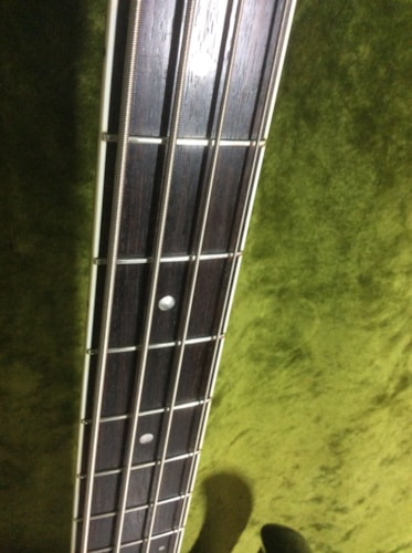 Burns Bison Bass Black early made in Korea w/ case candy