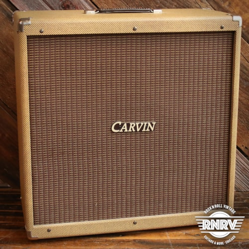 90's Carvin Lacquered Tweed 410 Cabinet - Loaded w/ Kendrick & Mojotone Speakers