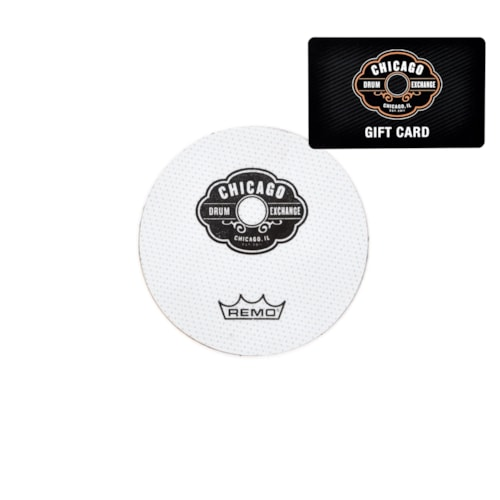 Chicago Drum Exchange Gift Card $10 w/FREE Remo CDE Falam Slam Bass Drum Patch