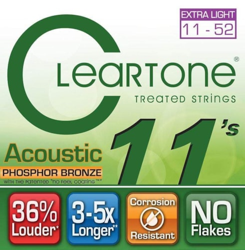 Cleartone Extra-Light Gauge Coated Acoustic Strings