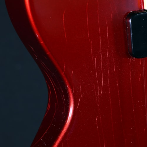 Collings 290 Solid Mahogany Candy Apple Red Aged Finish (290201614)