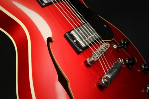Collings I-35 LC Aged Custom Inlay - Candy Apple Red