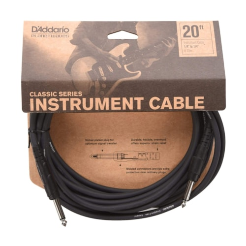 D'Addario Classic Instrument Cable 20' Straight-Straight