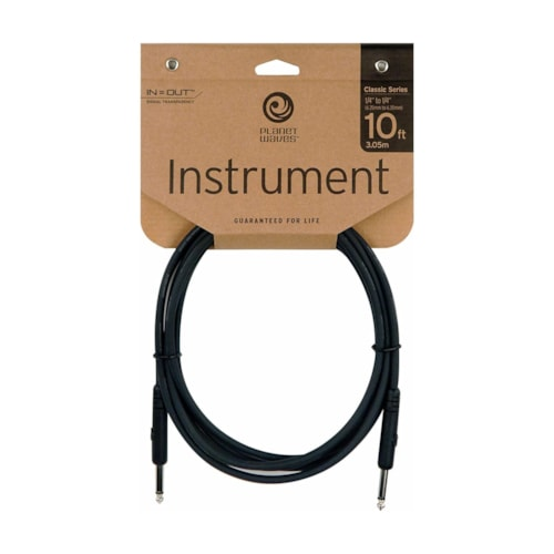 D'Addario Classic Series 10' Instrument Cable  Straight 1/4 Inch