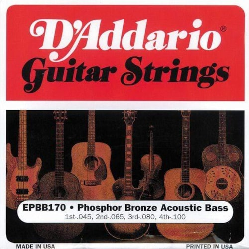 D'Addario EPBB170 Phospher Bronze Acoustic Bass String 45-100 Long scale