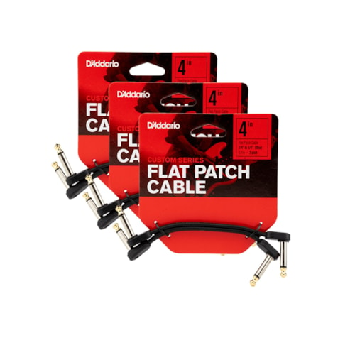 """D'Addario Planet Waves Flat Patch Cable 4"""" Offset Right Angle 6 Pack Bundle"""