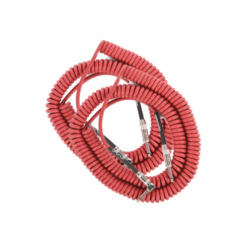 Divine Noise Curly Cable Red 30' Straight/Right Angle 2 Pack Bundle