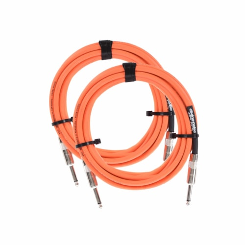 Divine Noise Straight Cable Orange 15' Straight/Straight 2 Pack Bundle