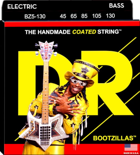 DR Strings BZ5-130 Bootzilla Signature Extra Life Stainless Steel Bass Strings 45-130