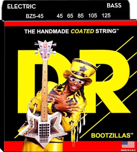 DR Strings BZ5-45 Bootzilla Signature Extra Life 5-String Stainless Steel Bass Strings 45-125