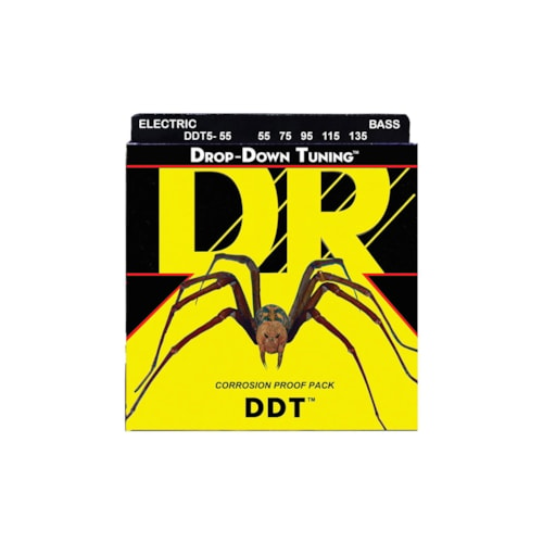 DR Strings DDT5-55 Drop-Down Tuning Bass 5-String Extra Heavy 55-135