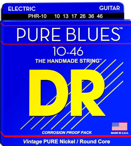 DR Strings PHR-10 Pure Blues Electric 10-46