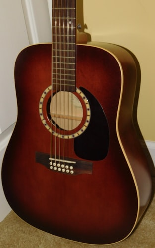 Art & Lutherie 12 Cedar Antique Burst Q1 Acoustic Electric 12 String Dreadnought 2008 HSC