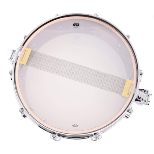 DW 5.5x14 Collector's Series Mahogany/Spruce Snare Drum Natural Hard Satin w/Die Cast Hoops